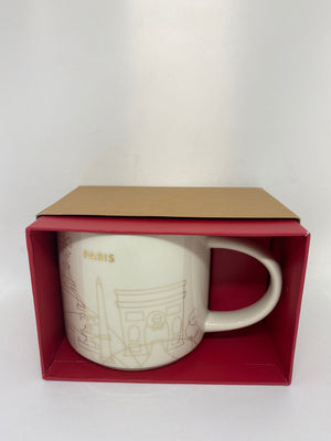 Starbucks You Are Here Collection Holiday Paris France Coffee Mug New Box