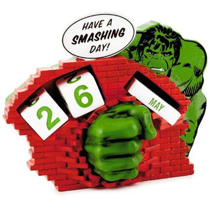 Hallmark Marvel Hulk Have a Smashing Day Perpetual Calendar New