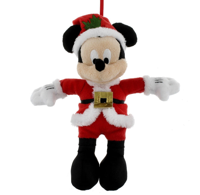 disney parks christmas ornament santa mickey mouse plush new with tag
