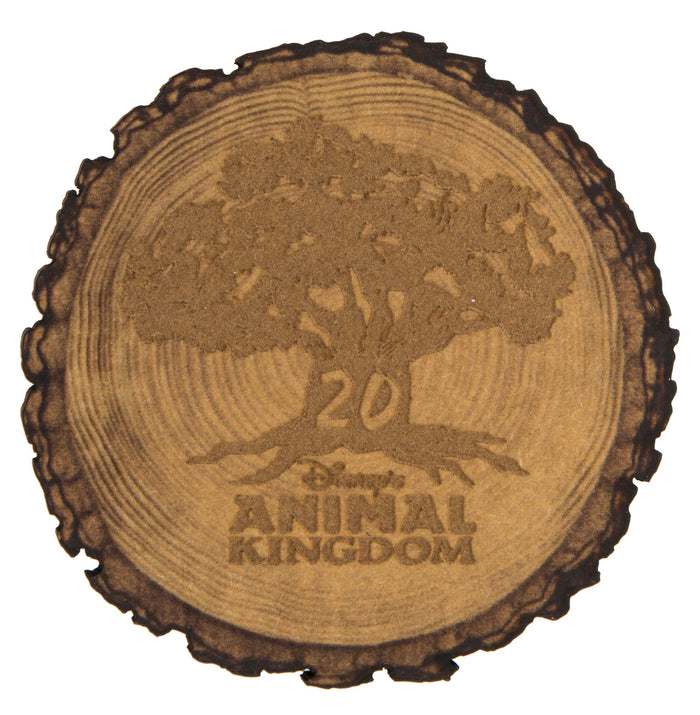 Disney Parks Animal Kingdom 20th Anniversary Wood Magnet New