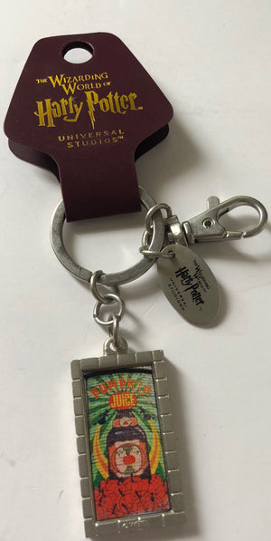 Universal Studios Harry Potter Pumpkin Juice Metal Keychain New with Tags