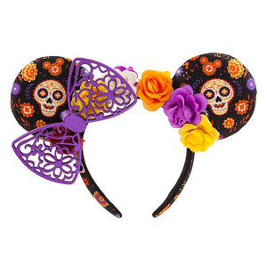 Disney Parks Halloween Minnie Mouse Dia De Los Muertos Ear Headband New with Tag