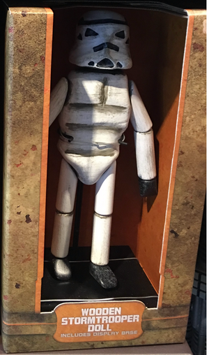 Disney Parks Star Wars Galaxy's Edge Wooden Stormtrooper Doll Toy Figurine