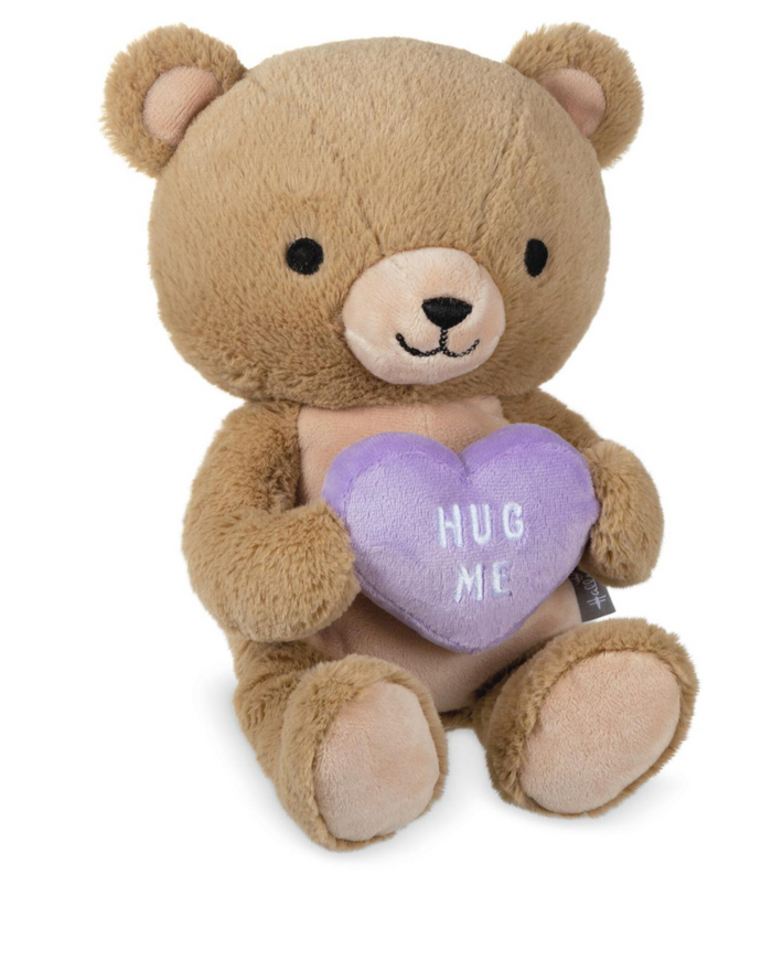 Hallmark Valentine Teddy Bear With Hug Me Candy Heart Plush New with Tag
