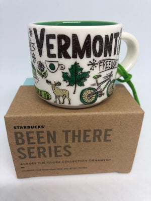 Starbucks Coffee Been There Vermont Ceramic Mug Ornament New with Box