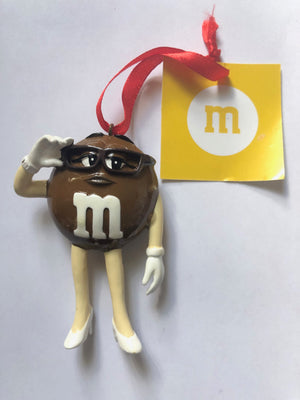 M&M's World Brown Character Resin Christmas Ornament New with Tag