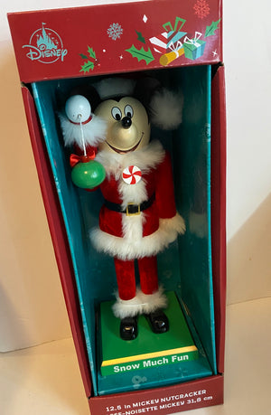 Disney Parks Mickey Holiday Christmas Nutcracker Snow Much Fun New with Box