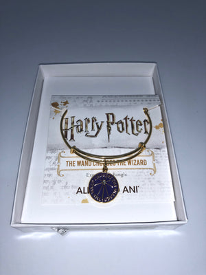 Alex and Ani Harry Potter The Wand Chooses The Wizard Charm Bangle Gold Finish New