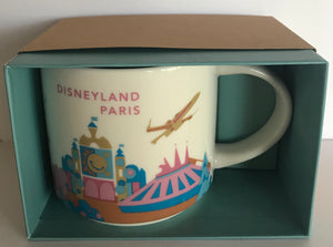 Starbucks You Are Here Disneyland Paris Classic Attractions Coffee Mug New