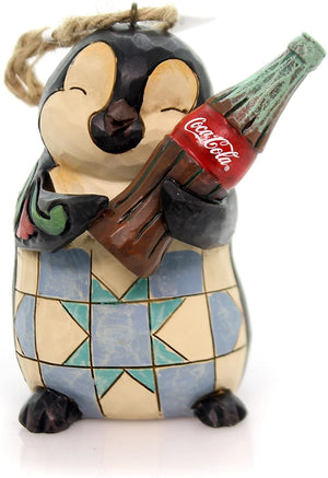 Jim Shore Coca Cola Coke Penguin with Bottle Christmas Ornament New with Box
