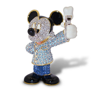 Disney Parks Mickey Mouse Dentist Jeweled Figurine by Arribas Brothers New w Box