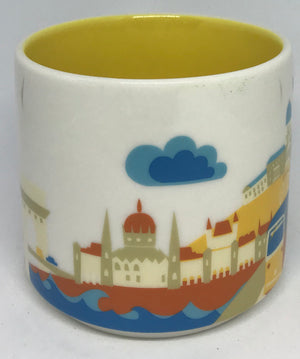 Starbucks You Are Here Budapest Hungary Ceramic Coffee Mug New with Box