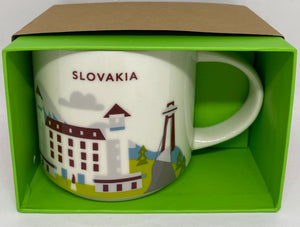 Starbucks Coffee You Are Here Collection Slovakia Ceramic Coffee Mug New