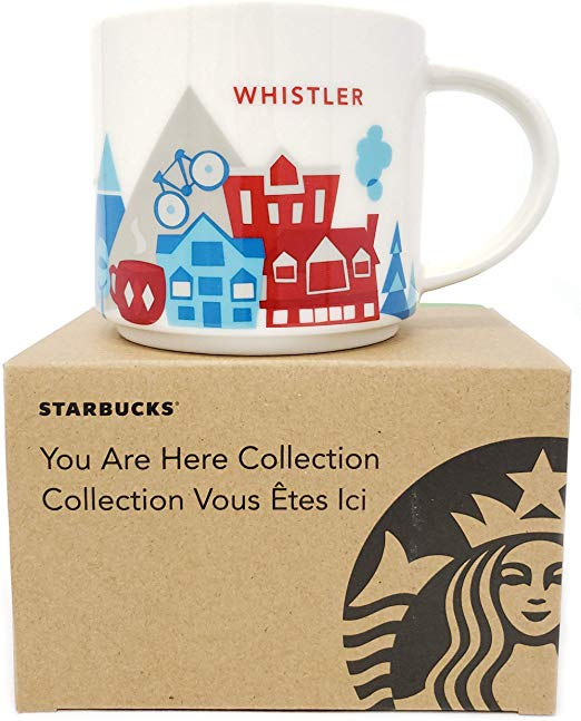 Starbucks You Are Here Whistler Canada Ceramic Coffee Mug New With Box