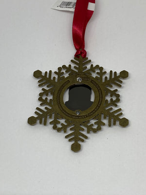 Universal Studios Harry Potter Hogwarts Express Train Snowflake Metal Ornament