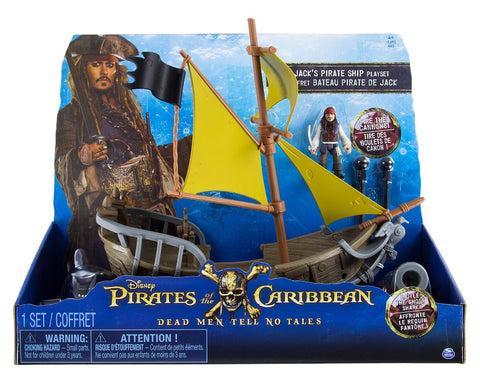 Disney Parks Pirates of the Caribbean Dead Men Tell No Tales Ship Play Set New