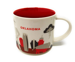 Starbucks You Are Here Oklahoma Ceramic Coffee Mug New With Box