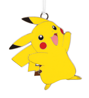Hallmark Pokémon Pikachu Metal Ornament New with Card