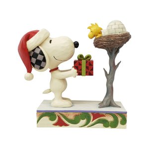 Jim Shore Peanuts Snoopy and Woodstock Christmas Nest Figurine New with Box