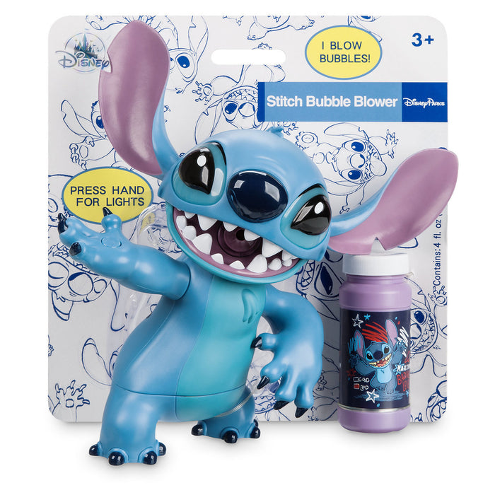 Disney Parks Stitch Light-Up Bubble Blower New with Box