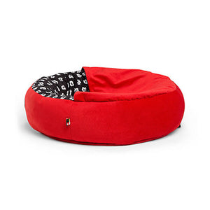 Disney Mickey Mouse Cozy Cuddler Pet Bed Red Small New with Tags