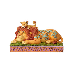 Disney Jim Shore Traditions Simba and Mufasa Resin Figurine New with Box