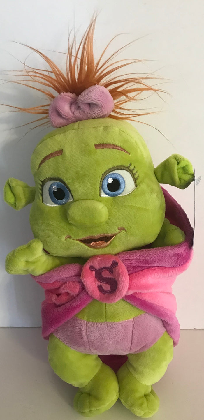 Universal Studios Shrek 4-D Baby Girl in Blanket Plush New With Tags