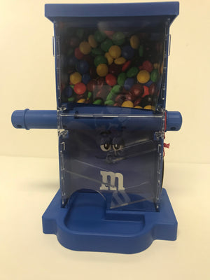 M&M's World Zig Zag Blue Candy Dispenser New with Tags