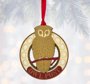 Universal Studios Harry Potter Owl Post Metal Christmas Ornament New with Tag