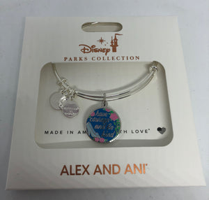 Disney Alex and Ani Parks Cinderella Have Carriage and Be Kind Bangle Silver New