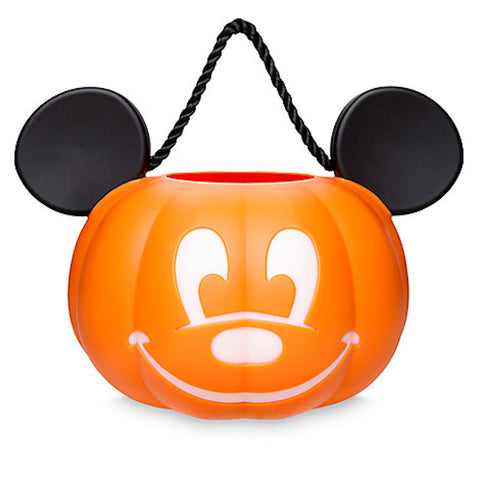Disney Parks Mickey Pumpkin Halloween Light Up Trick or Treat Bucket New w Tags