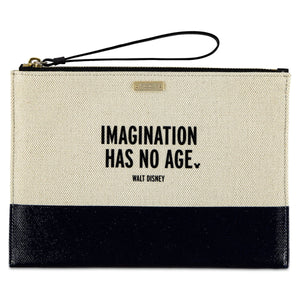 Disney Imagination Has No Age Canvas Glitter Clutch by Kate Spade New with Tag