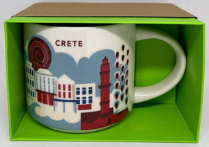 Starbucks You Are Here Crete Greece Ceramic Coffee Mug New with Box