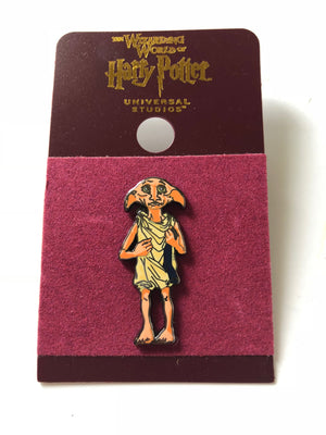 Universal Studios Harry Potter Dobby Enamel Pin New with Card