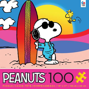 Peanuts Movie Snoopy Malibu Woodstock 100 pcs Puzzle Ceaco New with Box
