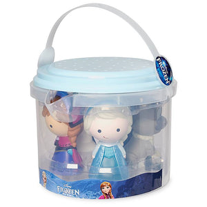 Disney Store Frozen Bath Set Elsa Anna Olaf Sven Kristoff New with Case