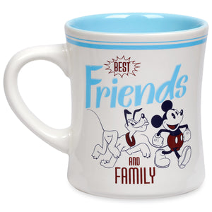 Disney Mickey Mouse and Pluto Best Friends and Family Ceramic Coffee Mug New