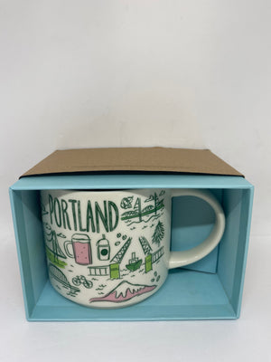 Starbucks Been There Series Collection Portland Oregon Coffee Mug New With Box