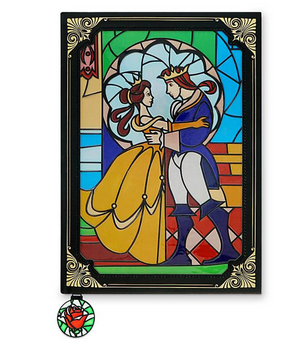 Disney Beauty and the Beast Stained Glass Window Replica Journal New