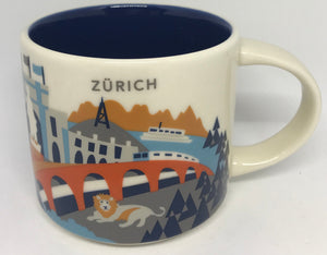 Starbucks You Are Here Collection Switzerland Zurich Ceramic Coffee Mug New Box