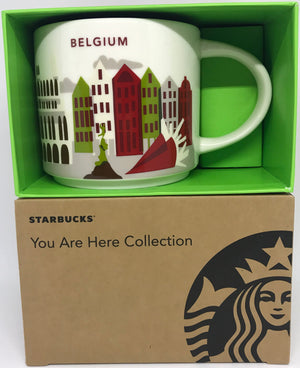 Starbucks You Are Here Collection Belgium Ceramic Coffee Mug New W Box