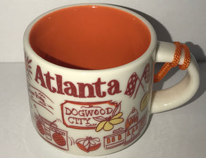 Starbucks Coffee Been There Atlanta Georgia Ceramic Mug Ornament New with Box