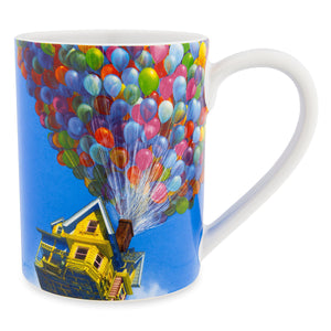 Disney Carl Fredricksen House with Balloons Up Grape Soda Ceramic Coffee Mug New