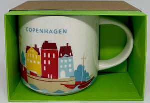 Starbucks You Are Here Copenhagen Denmark Ceramic Coffee Mug New with Box