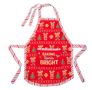Disney Parks Holiday Cheer Mickey Minnie Baking Spirits Bright Apron Adults New