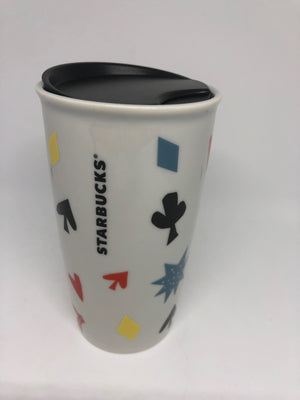 Starbucks Las Vegas Lucky 777 Double Walled Ceramic Travel Tumbler New with Box