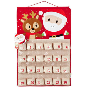 Hallmark Itty Bittys Santa Christmas Countdown Calendar Plush New with Tags