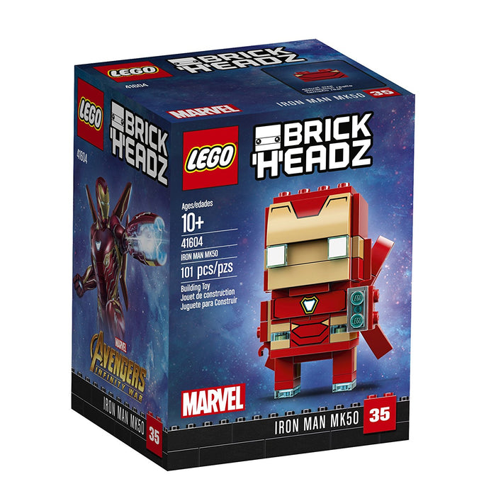 Lego 41604 BrickHeadz Iron Man MK50 Marvel 101 Pieces New Box Sealed