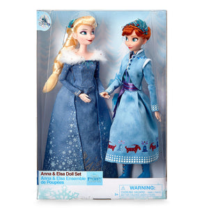 Disney Olaf's Frozen Adventure Anna and Elsa Doll Set New with Box