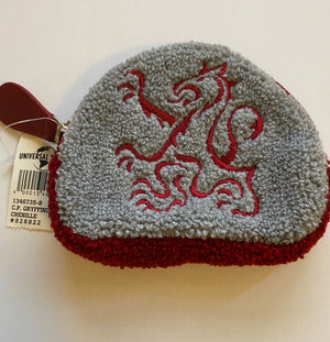 Universal Studios Harry Potter Gryffindor Chenille Coin Purse New With Tags